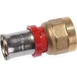 """Пресс патрубок TeRma 02011 d 20 мм х 1/2"""" внутренняя резьба красное кольцо"""