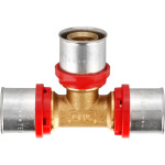 Пресс тройник TeRma 02510 d 26х26х26 мм красное кольцо