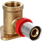 "Пресс уголок TeRma 02527 d 16 мм х 1/2"" внутренняя резьба с креплением красное кольцо"