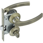 Комплект для межкомнатной двери Фабрика Замков 11L 170 BK AB с фиксатором бронза
