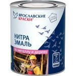 Эмаль Нитра по металлу и дереву Ярославские краски НЦ-132К зеленая 306 0.7 кг