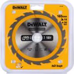 Пильный диск по дереву с гвоздями Dewalt Construction 165x20 мм 18 зубов DT1933-QZ