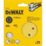 Шлифовальные круги Dewalt 8 отверстий 60G d 125 мм, 25 шт. DT3112-QZ