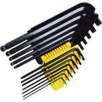 """Набор торцевых шестигранных Г-образных ключей Stanley с шаровидным наконечником дюймовых 1/16"""" - 3/8"""", 12 шт."""