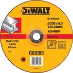 Круг обдирочный по металлу Dewalt Industrial 230х6.3 мм тип 27 DT42620Z-Q