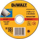 Круг отрезной по металлу Dewalt Industrial 125x22.2x1.2 мм тип 1 DT42340Z-Q