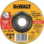 Круг обдирочный по металлу Dewalt 125х22.2х6.3 мм тип 27 DT43917-QZ