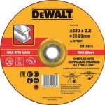 Круг отрезной по металлу Dewalt 230х22.2х2.8 мм тип 42 DT43913-QZ