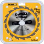 Пильный диск по дереву с гвоздями Dewalt Construction 190x30 мм 18 зубов DT1943-QZ