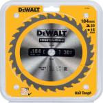 Пильный диск по дереву с гвоздями Dewalt Construction 184х16 мм 30 зубов DT1940-QZ