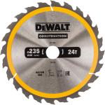 Пильный диск по дереву с гвоздями Dewalt Construction 235х30 мм 24 зуба DT1954-QZ