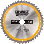 Пильный диск по дереву с гвоздями Dewalt Construction 250х30 мм 48 зубов DT1957-QZ