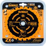 Пильный диск по дереву Dewalt Extreme 165х20 мм 24 зуба DT10300-QZ