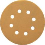 Шлифовальные круги Dewalt 8 отверстий 240G d 125 мм, 25 шт. DT3117-QZ
