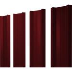 Штакетник М-образный А 0.45 PE RAL 3005 красное вино 2 м