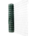 Сетка Каскад оцинкованная ПВХ 75х100 мм 1.5х15 м зеленая