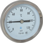 Термометр биметаллический Стеклоприбор ТБ-63-50 0+120-2.5-О ТУ У 33.2-14307481-033:2005