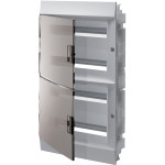 Бокс в нишу ABB Mistral41 72 модулей c клеммами прозрачная дверь IP41 735x430x128 мм белый