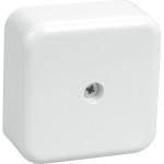 Коробка распаячная для открытой проводки IEK КМ41212-01 6 клемм 6 мм2 белая 75х75х20 мм