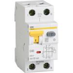 Дифференциальный автомат IEK АВДТ32 30мА 40А 1П+Н AC