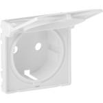 Лицевая панель Legrand Valena Life для розетки с крышкой 2К+З белая