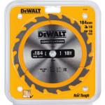 Диск пильный Dewalt Construction по дереву с гвоздями 184x16x18 мм DT1938-QZ