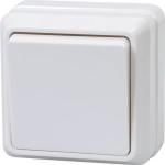 Выключатель одноклавишный IEK Октава EVO10-K01-10-DC открытой установки белый