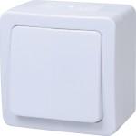 Выключатель одноклавишный IEK Гермес EVMP12-K01-10-54-EC проходной открытой установки IP54 белый