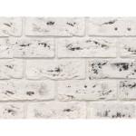 Гипсовая плитка Касавага Саман под кирпич белая с черным 0.5 м2