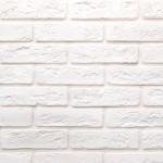 Гипсовая плитка Касавага Джерси тонкий кирпич белая 0.5 м2