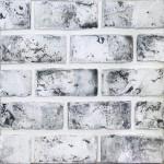 Плитка Касавага Старый кирпич 420 гипсовая белый с черной и белой присыпкой 0.5 м2