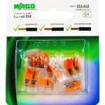 Клемма Wago Compact 450 В 32 А 2 провода 0.14-4 мм2 оранжевый, 6 шт.