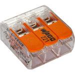 Клемма Wago Compact 450 В 32 А 3 провода 0.14-4 мм2 оранжевый, 50 шт.