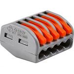 Клемма Wago Classic 400 В 32 А 5 проводов 0.08-4 мм2 оранжевый, 40 шт.