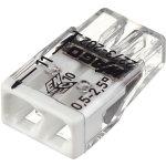 Клемма Wago Compact 450 В 24 А 2 провода 0.5-2.5 мм2 белый, 100 шт.