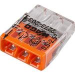 Клемма Wago Compact 450 В 24 А 3 провода 0.5-2.5 мм2 оранжевый, 100 шт.