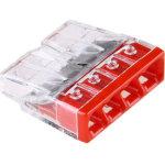 Клемма Wago Compact 450 В 24 А 4 провода 0.5-2.5 мм2 красный, 100 шт.