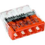 Клемма Wago Compact 450 В 24 А 4 провода 0.5-2.5 мм2 с пастой красный, 100 шт.