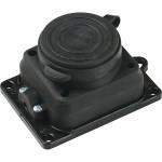Силовая колодка Baysal Elektrik 2P+E о/у с заземлением 250 В 16 А IP44 каучук черная