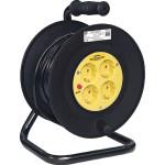 Удлинитель на катушке IEK УК50 с термозащитой Industrial 2P+PE с/з 230 В 16 А IP20 желтый