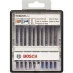 Набор пилок для лобзика по древесине и металлу Bosch Robust Line, 10 шт. 2607010542