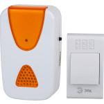 Звонок ЭРА A02 беспроводной аналоговый 32 мелодии IP20 бело-оранжевый