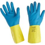 Перчатки Manipula Specialist Союз латекс/неопрен/хлопок  размер 10 сине-желтые