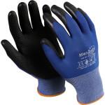 Перчатки Manipula Specialist Юнит-500 нейлон/нитрил размер 8 сине-черные