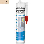 Герметик силиконовый - затирка  Ceresit CS 25 Silicoflex 280 мл натура 41