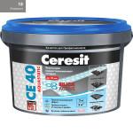 Затирка Сeresit CE-40 Aquastatic 2 кг Антрацит 13