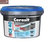 Затирка Сeresit CE-40 Aquastatic 2 кг Темно-коричневый 58