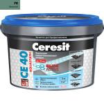 Затирка Сeresit CE-40 Aquastatic 2 кг Зеленый 700