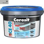 Затирка Сeresit CE-40 Aquastatic 2 кг Манхеттен 10