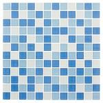 Мозаика Artens Shaker бело-голубая 300х300х4 мм 0.09 м2